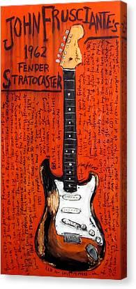 John Frusciante 1962 Stratocaster Canvas Print by Karl Haglund
