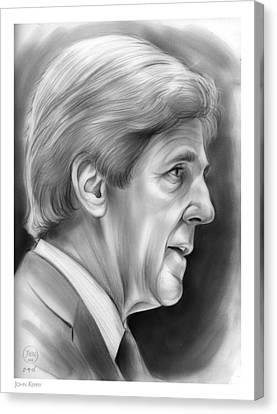 John Kerry Canvas Print by Greg Joens