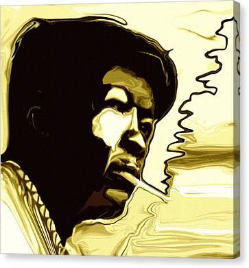 John Lee Hooker Canvas Print by Jeff DOttavio