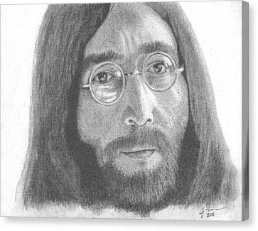 John Lennon Canvas Print by Jeff Ridlen