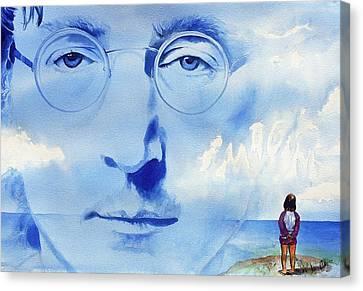 John Lennon Canvas Print by Ken Meyer jr