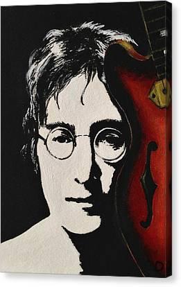 John Lennon Canvas Print by Lena Day