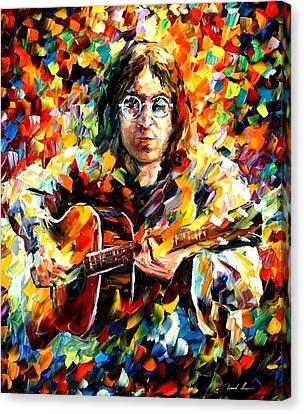 John Lennon Canvas Print by Leonid Afremov