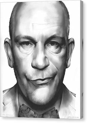John Malkovich Canvas Print by Greg Joens