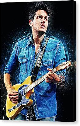 John Mayer Canvas Print by Taylan Soyturk