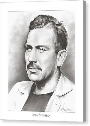 John Steinbeck Canvas Print by Greg Joens