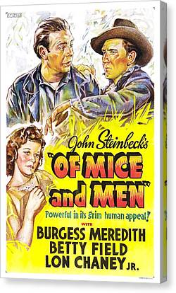 John Steinbeck's Of Mice And Men Canvas Print by Mountain Dreams