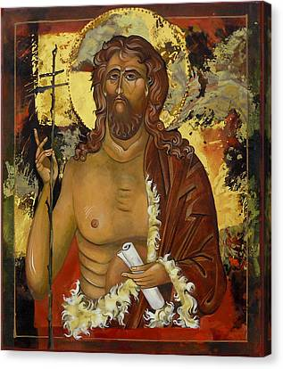John The Baptist Canvas Print by Mary jane Miller