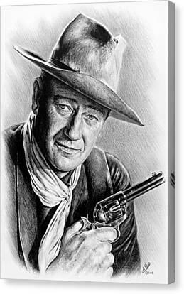 John Wayne  Canvas Print by Andrew Read