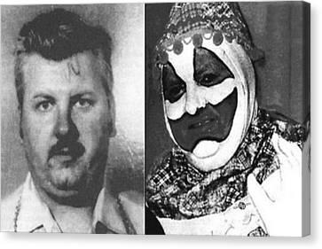 John Wayne Gacy Mug Shot Serial Killer And Clown 1980 Black And White Photo Canvas Print by Tony Rubino