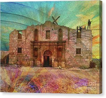 John Wayne's Alamo Canvas Print by John Robert Beck