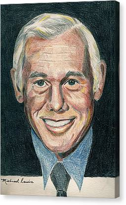 Johnny Carson Canvas Print by Michael Lewis