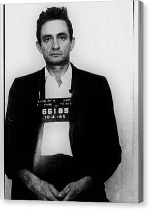 Johnny Cash Mug Shot Vertical Wide 16 By 20 Canvas Print by Tony Rubino