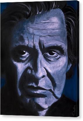 Johnny Cash Canvas Print by Tabetha Landt-Hastings