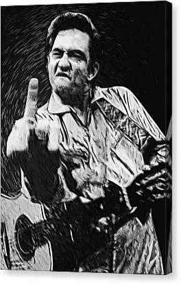 Johnny Cash Canvas Print by Taylan Soyturk