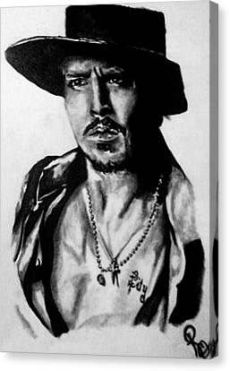 Johnny Depp Canvas Print by Pauline Murphy