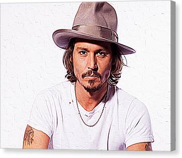 Johnny Depp Canvas Print by Iguanna Espinosa