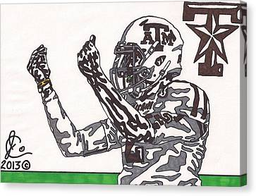 Johnny Manziel 10 Change The Play Canvas Print by Jeremiah Colley