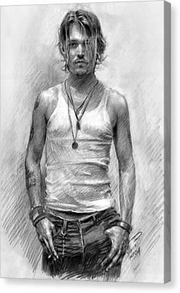 Johny Depp Canvas Print by Ylli Haruni
