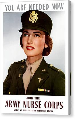 Join The Army Nurse Corps Canvas Print by War Is Hell Store