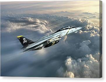 Jolly Rogers F-14 Tomcat Canvas Print by Peter Chilelli