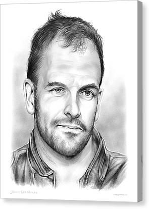 Jonny Lee Miller Canvas Print by Greg Joens