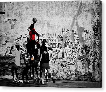 Jordan On The Playground Canvas Print by Brian Reaves