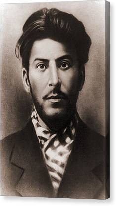 Joseph Stalin 1879-1953, In An Early Canvas Print by Everett