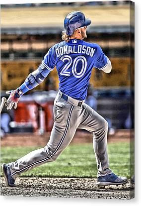 Josh Donaldson Toronto Blue Jays Canvas Print by Joe Hamilton
