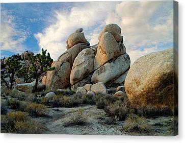 Joshua Tree Rock Formations At Dusk  Canvas Print by Glenn McCarthy Art and Photography