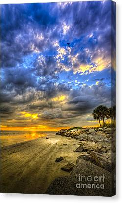 Journey To The Sunset Canvas Print by Marvin Spates