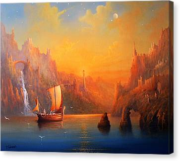 Journey To The Undying Lands Canvas Print by Joe  Gilronan