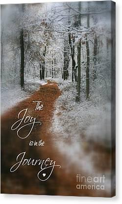 Joy In The Journey Canvas Print by Debra Straub