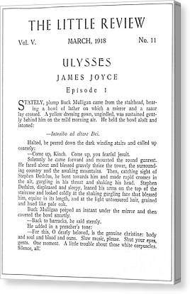 Joyce: Ulysses, 1918 Canvas Print by Granger