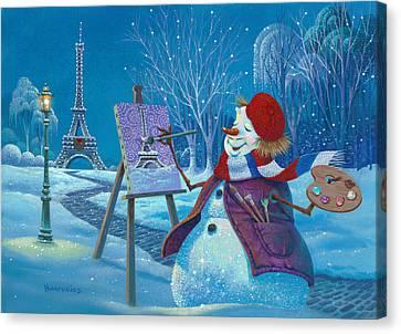 Joyeux Noel Canvas Print by Michael Humphries