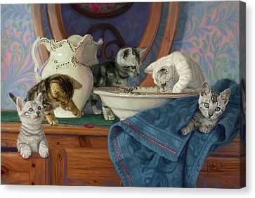 Joyful Morning Canvas Print by Lucie Bilodeau