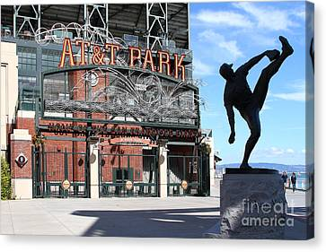 Juan Marichal At San Francisco Att Park . 7d7639 Canvas Print by Wingsdomain Art and Photography
