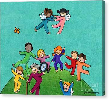 Jubilation Canvas Print by Sarah Batalka