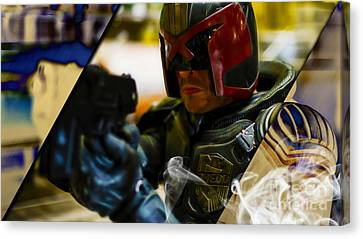 Judge Dredd Collection Canvas Print by Marvin Blaine