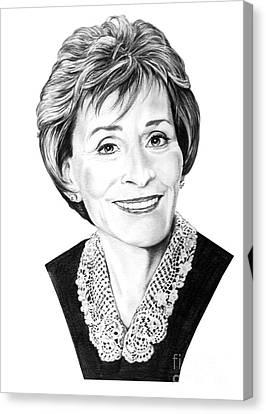 Judge Judith Sheindlin Canvas Print by Murphy Elliott