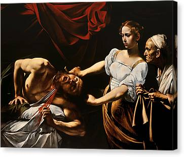 Judith And Holofernes Canvas Print by Caravaggio