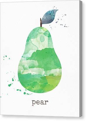 Juicy Pear Canvas Print by Linda Woods