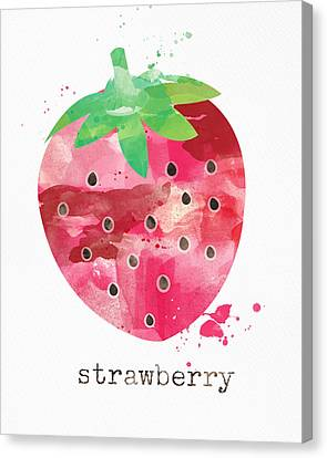 Juicy Strawberry Canvas Print by Linda Woods