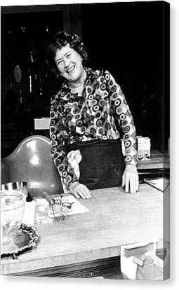 Julia Child, Ca. Early 1970s Canvas Print by Everett