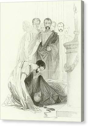 Julius Caesar, Act IIi, Scene I Canvas Print by Joseph Kenny Meadows