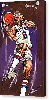 Julius Erving Canvas Print by Dave Olsen
