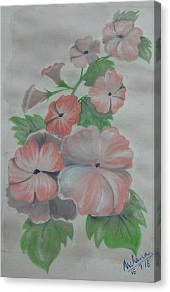 July Flowers  Canvas Print by Archana Saxena
