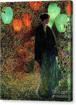 July Night Canvas Print by Childe Hassam