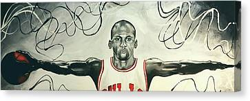 Jumpman  Canvas Print by Lawrence Saunders