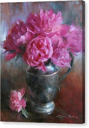 June Bouquet Canvas Print by Anna Rose Bain